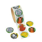 Fun Express Zoo Animal Sticker Roll Kids Cartoon Stickers Decal Reward 100Piece