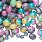 Approximately 650 Speckled Multi Color Glass Beads 4 8mm Mixed Shapes