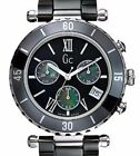 GUESS COLLECTION SWISS MADE, BLACK CERAMIC /SAPPHIRE/ CHRONOGRAPH WATCH,G43001M2