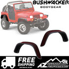 Bushwacker Flat Style Rear Pair Fender Flare Set 87 95 Jeep Wrangler YJ