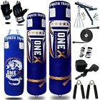14 Piece Boxing Set 3 4 5ft Filled Heavy Punch Bag GlovesChainsBracketKick
