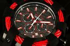 Invicta 23869 Bolt Sports Red Cable Chronograph Carbon Fiber Dial Strap Watch
