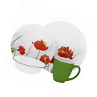 Corelle Vive 16 Piece Glass Kalypso Dinnerware Set, White