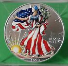 1999 1 Ounce Painted American Eagle 999 Fine Silver Dollar With Box