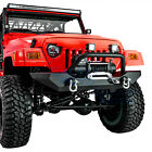 Rock Crawler Front Bumper+Winch Plate+2pcs D rings for 97 06 Jeep Wrangler TJ