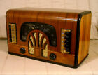Old Antique Wood Zenith Vintage Tube Radio Restored Working Art Deco Black Dial