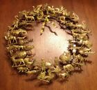Vintage Petite Choses Holiday Christmas 16 Inch Brass Wreath XLNT WOW