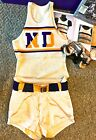 1930S NOTRE DAME GAME USED BASKETBALL UNIFORM JERSEY  VINTAGE WIRE FACE MASK