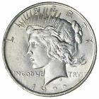 Early 1922 Peace Silver Dollar 90 US Coin 654