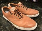 Sperry Gold Cup Tan Leather Boat Sneakers Shoe Mens Sz 10 M