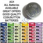 AG4 SR626 377 LR626 Battery Alkaline Cells Coin Watch SELECT QUANTITY  UK B3