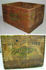 Antique Dovetailed Wood Mining Box HIGH EXPLOSIVES Columbia Stumping 50 LB No. 2