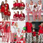 8 Styles Christmas Family Matching Pajamas Set Adult Kids Sleepwear Nightwear