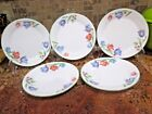 SET OF 5 CORNING WARE CORELLE FRESH CUT SALAD PLATES, 7.25