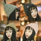 US Stock Beanie Womens Knit Slouchy Oversized Thick Cap Hat Unisex Slouch Color