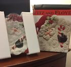 fitz and floyd yuletide holiday canape  plate New in Box
