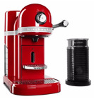 KitchenAid KES0504CA, Nespresso Espresso Maker with Milk Frother-Candy Apple Red