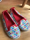 Hanna Andersson Tulip Espadrille Shoes Girls Size 13 Cute