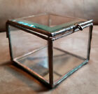 Vintage Beveled Glass Copper mirror display trinket jewelry box