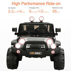 12V Kids Ride On Jeep Cars Power Wheel Remote Control 2 Speed MP3 in Black