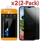 2X HD Privacy Anti Spy Tempered Glass Screen Protector for iphone X