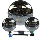 7 LED Headlight + Passing Lights for Harley Touring Softail Deluxe Black