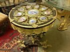 Handmade Ormolu Bronze Accent Table with Cupids - Porcelain Inlays - 27