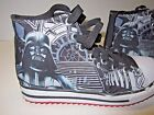 EUC Boys Size 25 Star Wars Darth Vader Sketchers High Top Canvas Lace Shoes