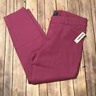 Old Navy Mid Rise Pixie Ankle Pants 12 Purple Pink Magenta New
