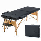 BestMassage 2 Pad 73 Black Massage Table Free Carry Case Bed Spa Facial T1