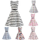 50S Vintage Style Swing Pinup Retro Housewife Casual Sleeveless Party Dress