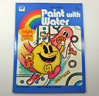 Pac-Man Paint With Water Coloring Book Whitman 1982 Unused 28 Pages