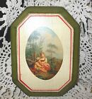 Florentine Litho Children Playing Victorian Home Wood Wall Plaque Decor Italy