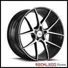 SAVINI 20 BM14 BLACK MACHINED CONCAVE WHEELS RIMS FITS D4 AUDI A8