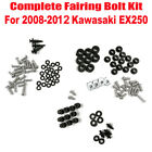 Complete Fairing Bolt Kit Body Screws For Kawasaki Ninja EX 250R 2008-2012 Model