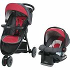 Graco FastAction Sport LX Travel System, Car Seat Stroller Combo, Chili Red