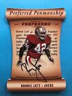 2017 PANANI PREFERRED RONNIE LOTT AUTOGRAPH #'ED 10 25