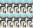 HUGE LOT Jolees MOUSTACHES ON STICKS Stickers 10 Packs HALLOWEEN DRESS UP