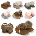 Newborn Baby Boys Girls Soft Sole Crib Shoes Warm Leather Fleece Sneakers 0 18M