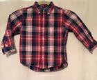 Tommy Hilfiger Dress Shirt Kids Toddler Button Long Sleeve Casual 2T Holiday