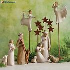 Holiday Christmas Willow Tree Metal Star Backdrop Nativity Scene Decorations New