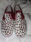 NEW Girls Size 4 SKETCHERS Sneakers Adorable Cherry Design Casual Slip on Shoes