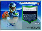 RUSSELL WILSON 2012 Topps Platinum Blue Ref Rookie Patch Autograph AUTO SP # 25