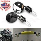 Universal CNC Handle Bar End Round Rear View Side Mirrors 7/8
