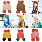 Winter Warm Woolly Knitted Earmuffs Sweater Hat For Toddler Boys