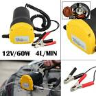 Electric 60W 12V Transfer Pump Extractor Oil Fluid Diesel Car Motorbike UK Sales