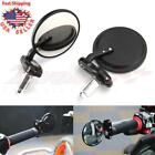 Black Handle 7 8 Bar End Motorcycle Rear View Side Mirror For Honda GROM MSX125