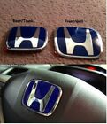 3xJDM Front Back Blue H Honda Emblem For CIVIC 2016 2018 Sedan 4Door EX DX LX