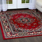 PERSIAN BURGUNDY AREA RUG 9 X 12 LARGE ORIENTAL CARPET 69 - ACTUAL 9'2'' X 12'5