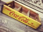Vintage 1964 Near Mint Yellow Coke Coca Cola Wood Soda Crate #166